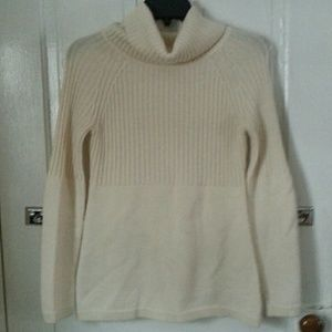 Lovely cream colored sweater.  Very warm